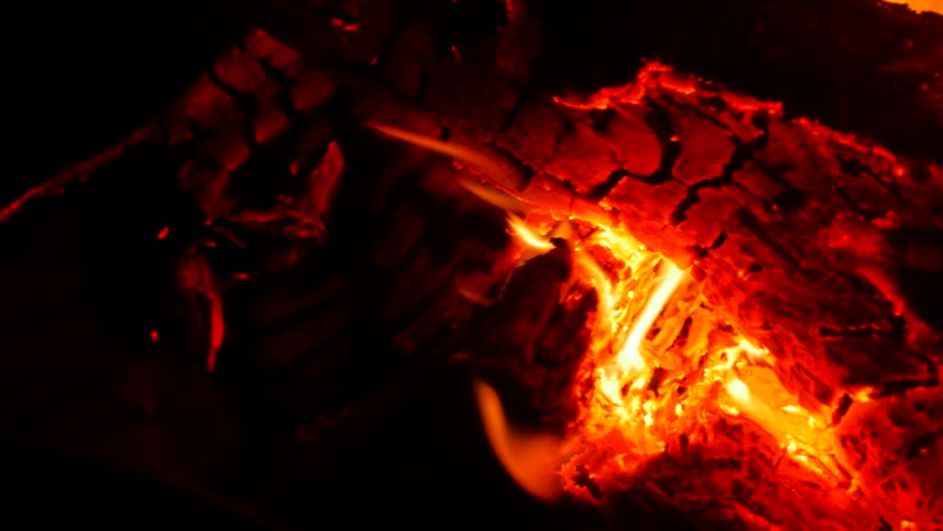 Close-up of a burning fire