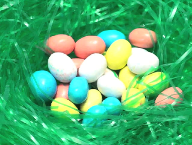 Easter egg candy in grass loop V3 - NTSC - SD stock video clip