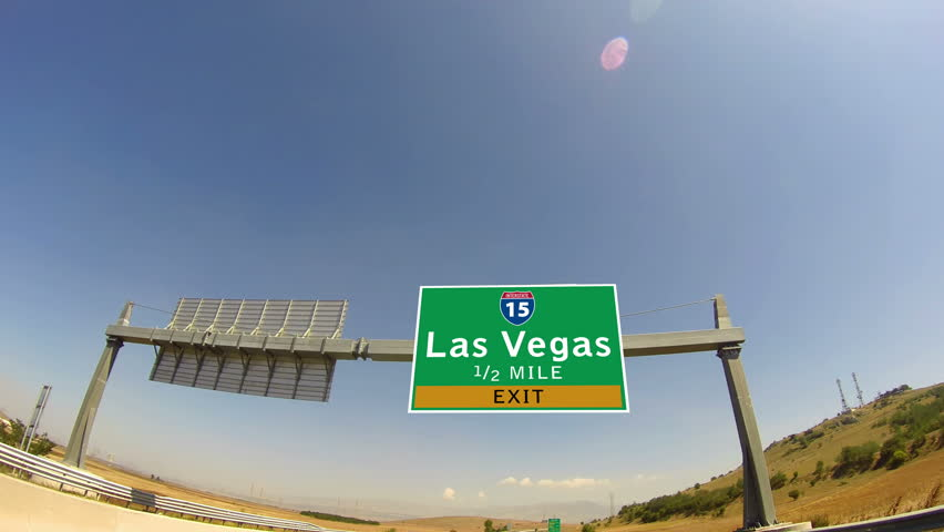 4K Driving on Highway/interstate,  Exit sign of the City Of Las Vegas, Nevada | Shutterstock HD Video #7841818