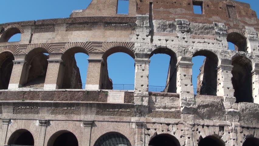 Rome, Italy-03 July, 2012: Around the coliseum - HD stock video clip