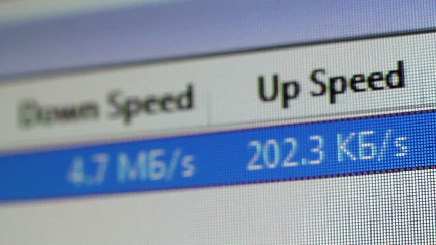 Upload Speed Of Files 5 - HD stock video clip