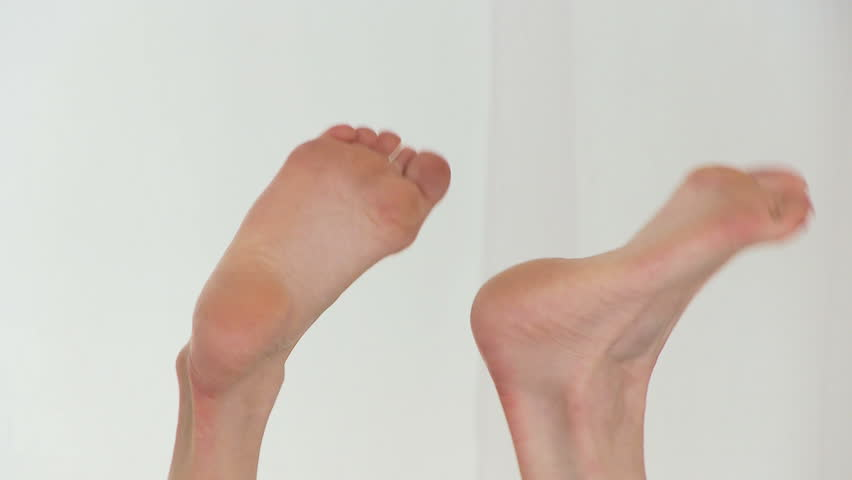 Woman's feet - HD stock footage clip