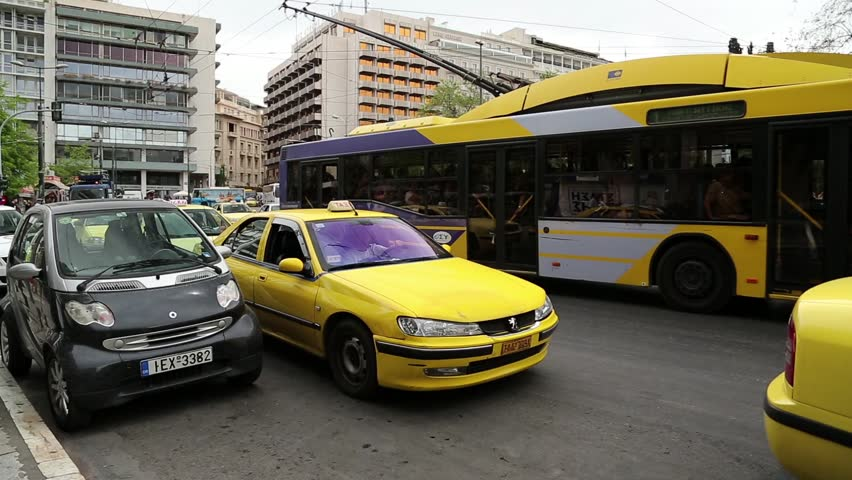 GREECE, ATHENS, JUNE 7, 2013: Road traffic at Syntagma Square in Athens, Greece   Shutterstock HD Video #7934518