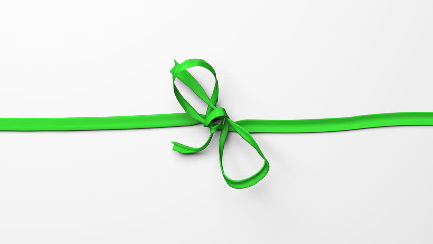 Red ribbon, tying bows.