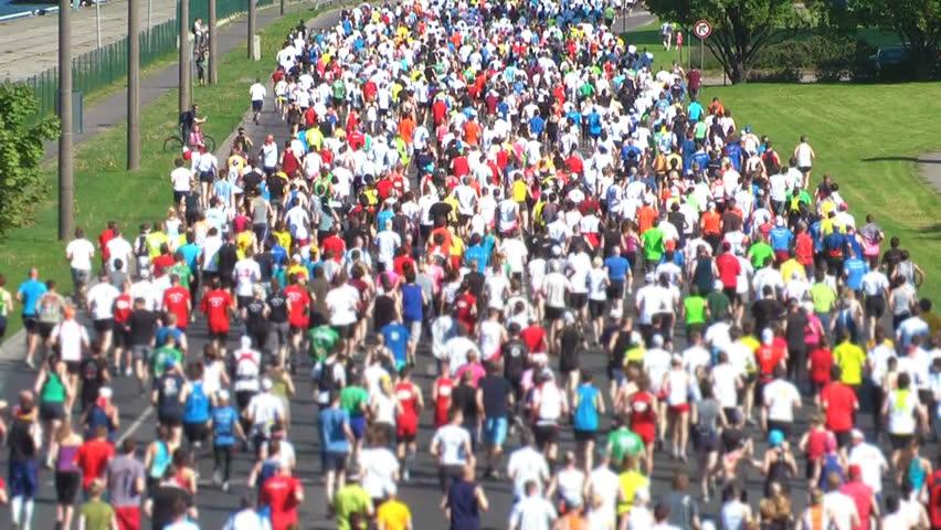 HD 1080 - City Marathon - HD stock footage clip
