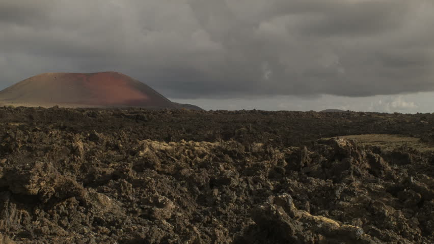 Volcanic Landscape on the Island of Lanzarote