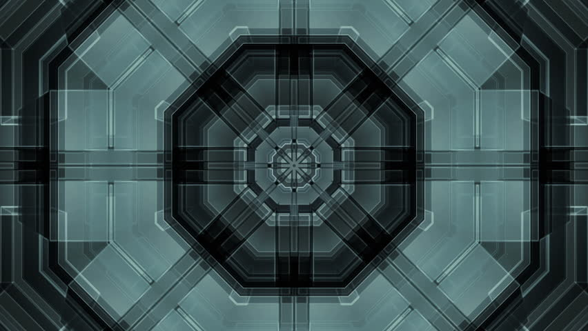 Science Fiction Geometric Looping Animated Background  - HD stock footage clip