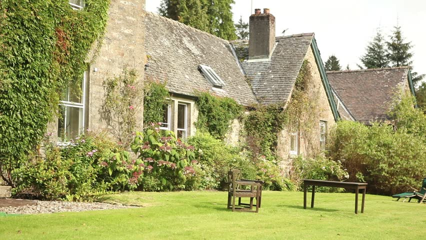 Beautiful English Garden And Renovated Old Farm Stock