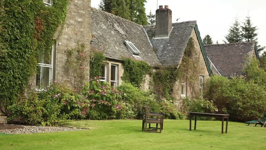 Typical Old Style English Farm House Stock Footage Video