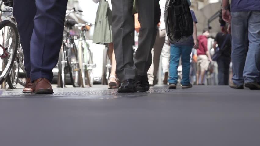walking - HD stock footage clip