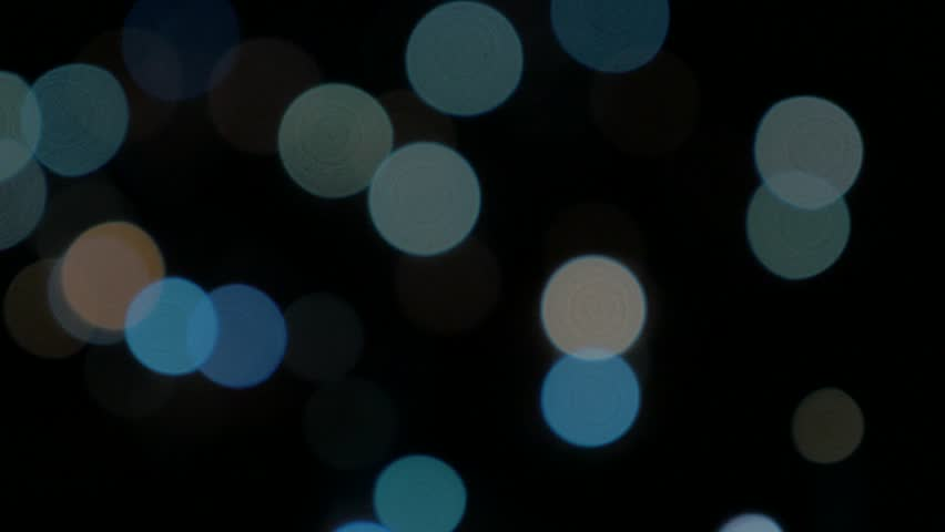 Blue shiny Christmas decorative glitters 4K 2160p UHD panning video - Electric blue dot lights for decorations 4K 3840X2160 UHD footage - 4K stock footage clip