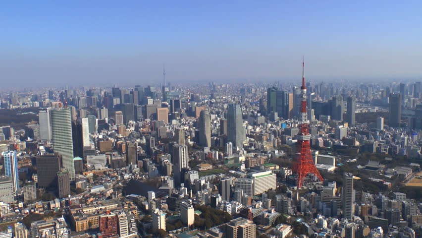 Tokyo Tower and Tokyo Skytree Aerial Shoot in Tokyo, Japan. | Shutterstock HD Video #8159896