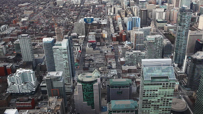 An aerial view of Toronto streets | Shutterstock HD Video #8183755