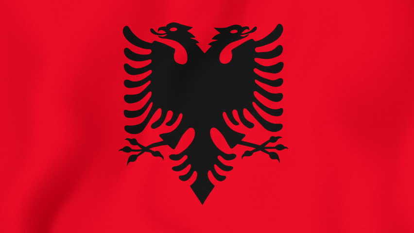 Albanian Flag Waving Albanian Flag Waving in