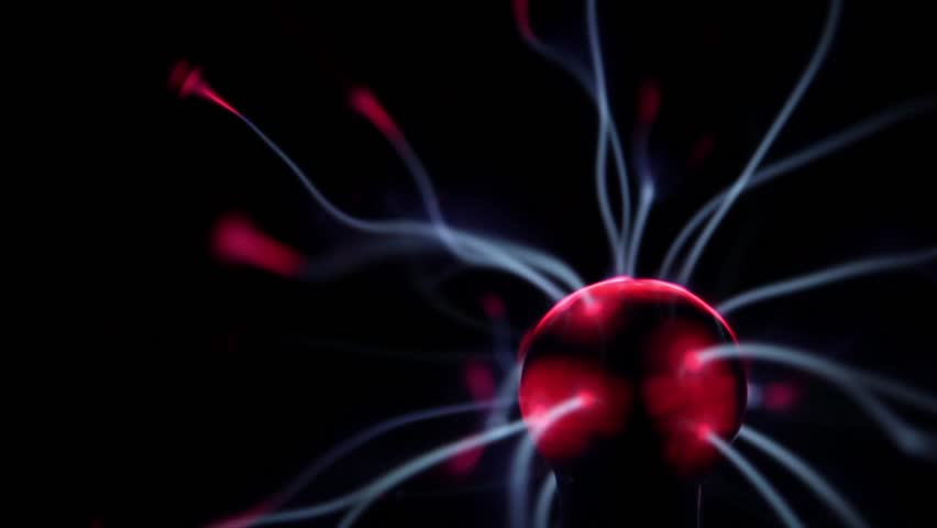 Plasma ball energy lightning - HD stock footage clip