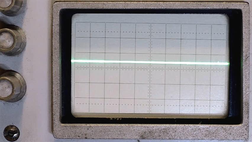 Old Oscilloscope Screen : Sine wave on an oscilloscope stock footage video