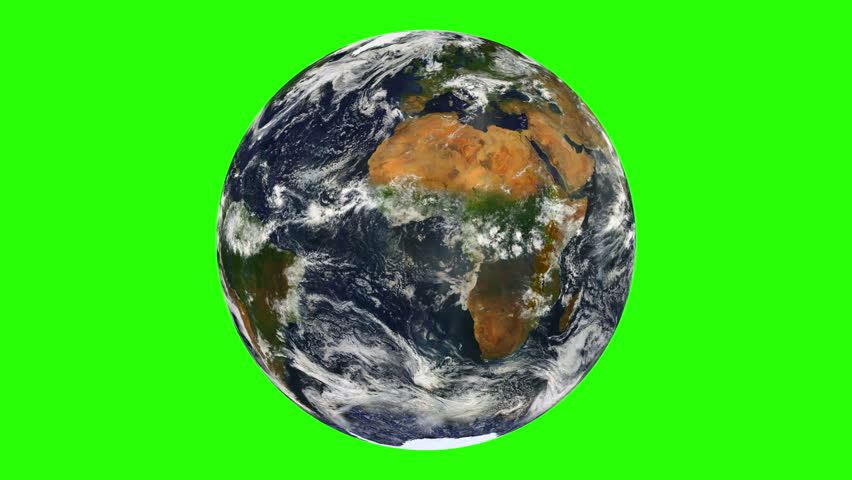 Earth with Clouds  Rotation Chroma Key Looped - HD stock footage clip