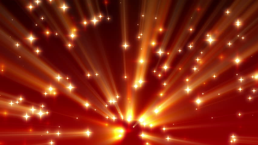 Red Moving Shine Stars on Ramp Background Loop 1