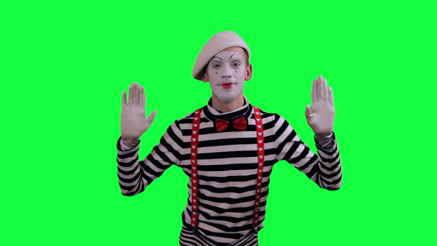 The mime is behind an invisible wall