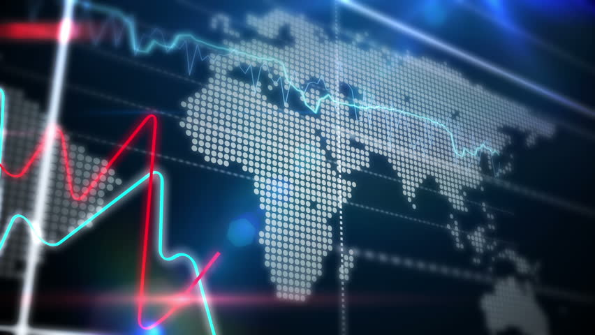 3d Business Chart Line Goes Up Loop Stock Footage Video