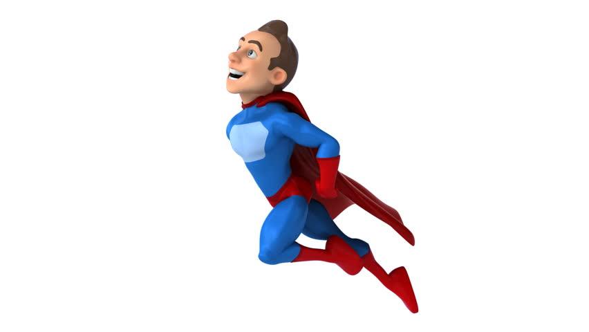 Fun superhero - HD stock footage clip