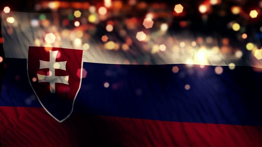 Slovakia Flag Waving, Grunge Look Stock Footage Video ...