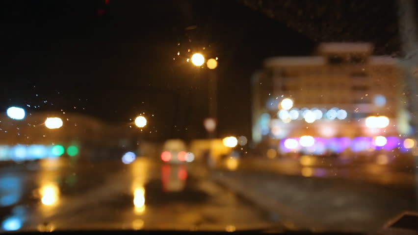 car window rain night background defocused in motion time lapse stock footage video 2983021. Black Bedroom Furniture Sets. Home Design Ideas