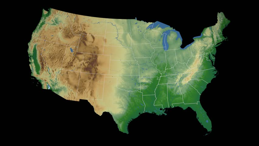 USA Oregon State Salem Extruded On The Elevation Map Of The - 3d us map elevation