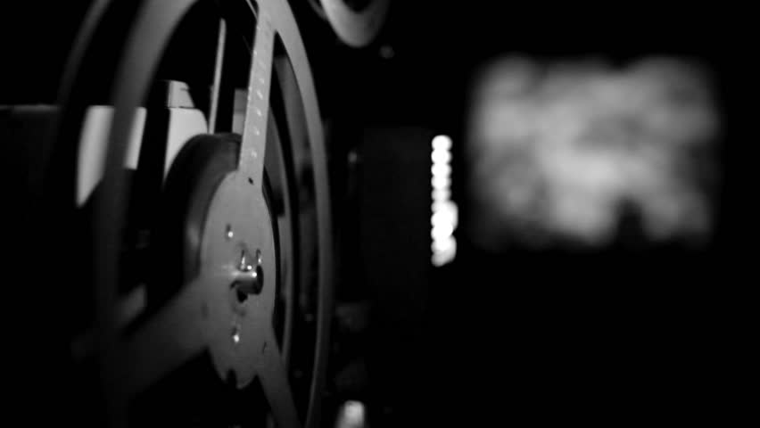 old projector showing film - HD stock footage clip