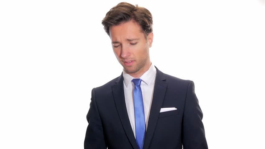 businessman in trouble  - 4K stock video clip