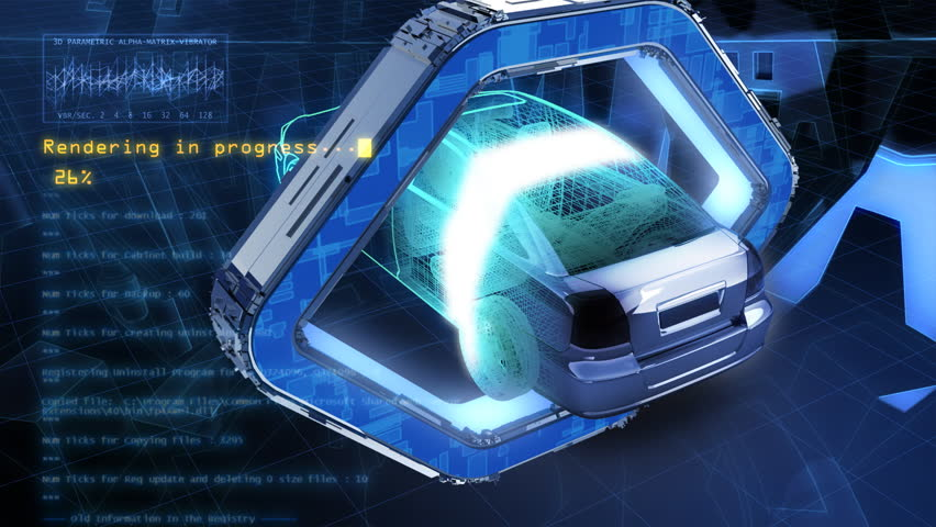 3d visualization of car assembling