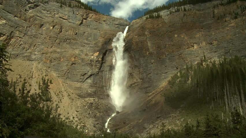 Takkakaw Falls in Yoho National Park, Canadian Rockies - HD stock video clip