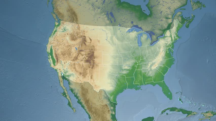 USA Montana State Helena Extruded On The Elevation Map Of - Montana physical map united states