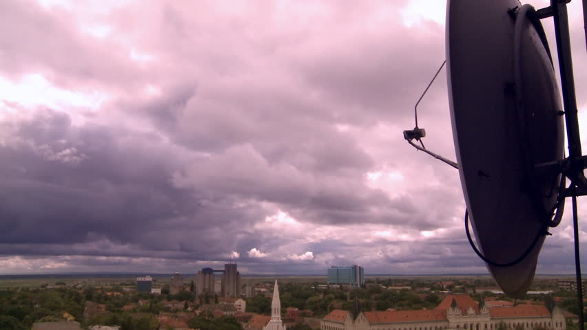 Storm Clouds over Serbian city time-lapse - HD stock video clip