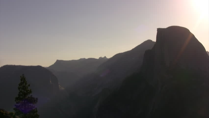 Yosemite HD20 Time Lapse Half Dome Sunrise x7 - HD stock video clip