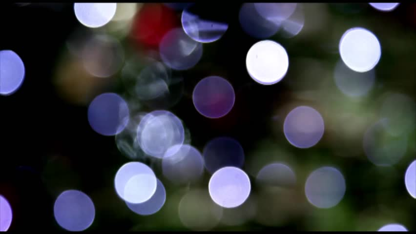 Abstract, blue lights blurred bokeh moving loop Full HD 1080p - HD stock video clip