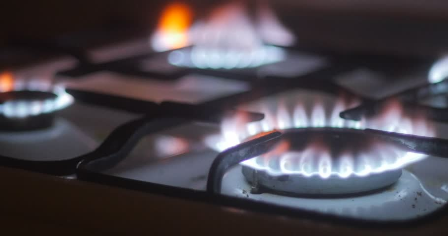 Natural Gas Burning On A Stove