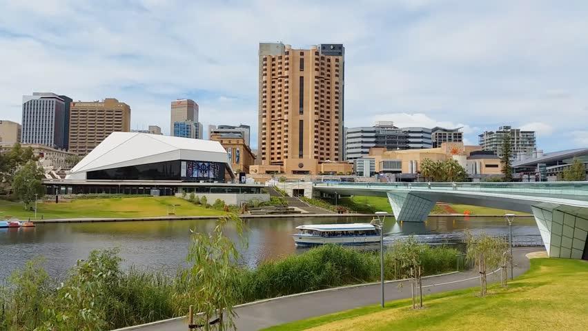 hyperlapse video of adelaide city australia stock footage. Black Bedroom Furniture Sets. Home Design Ideas