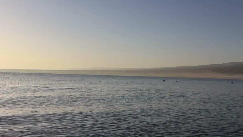 Qinghai lake at sunrise - HD stock video clip