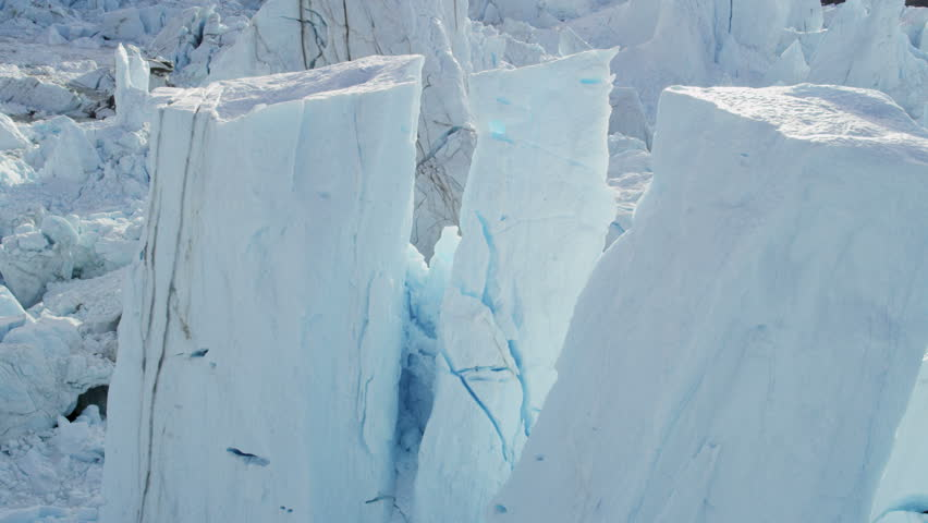 Aerial Greenland Disko Bay glacier Arctic Circle moraine melting Global warming iceberg landscape geography travel RED EPIC