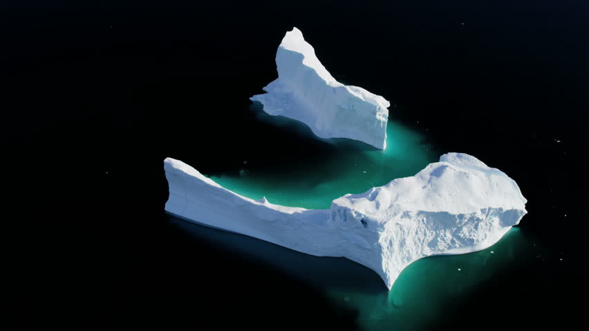Aerial Greenland arctic ice floes global warming damage rising sea levels iceberg landscape geography travel RED EPIC