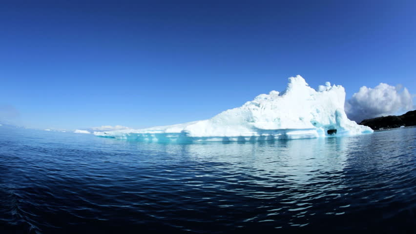 World Heritage Site Disko Bay Greenland Global warming remote melting frozen water icecap nature climate travel - HD stock footage clip