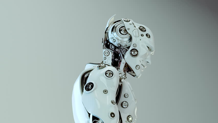 Futuristic Humanoid Robot/ Stylish Robotic Character ...
