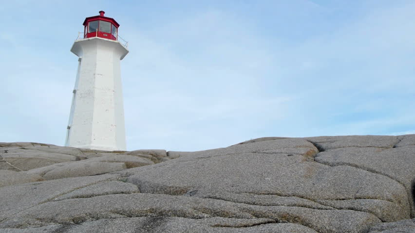 Peggy's Cove Lighthouse - HD stock footage clip