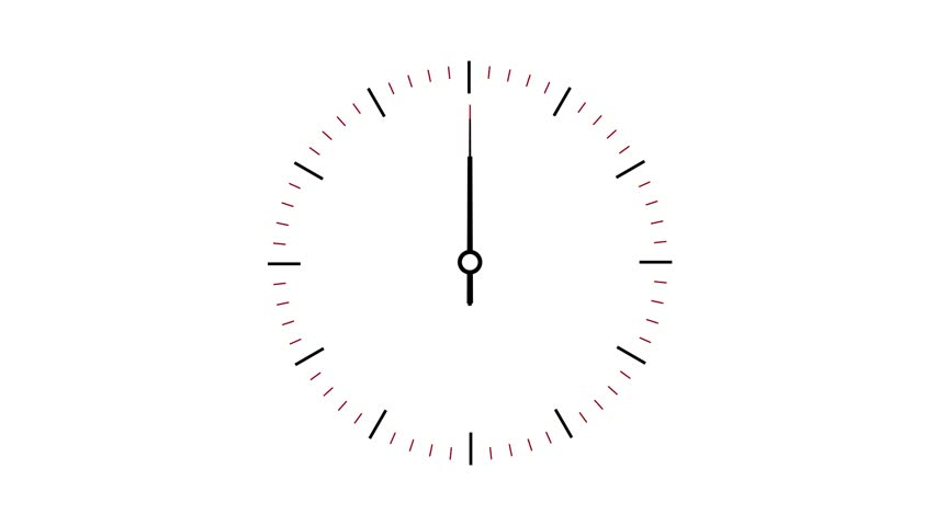 Clock counting down 12 hours over 30 seconds. Time lapse. White background | Shutterstock HD Video #8861203