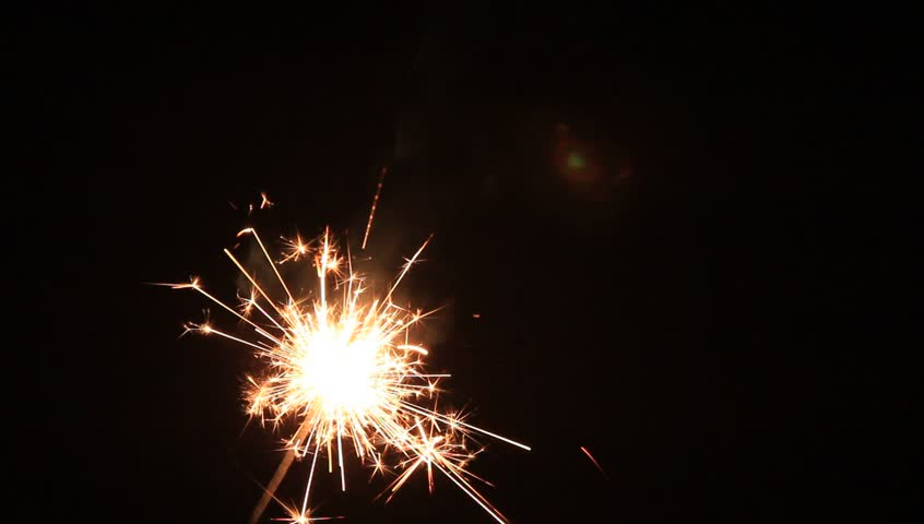 sparklers - HD stock video clip