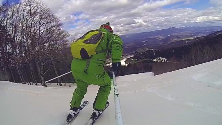 Ski sport man downhill at winter   Shutterstock HD Video #8867278