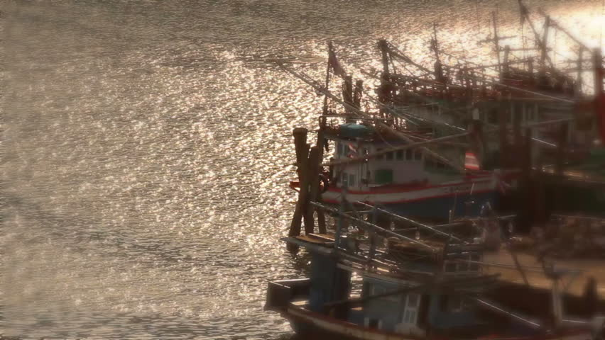 Fishing boat - HD stock footage clip