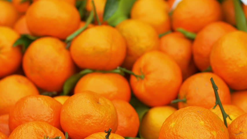 Fresh oranges on the market stand | Shutterstock HD Video #8908174
