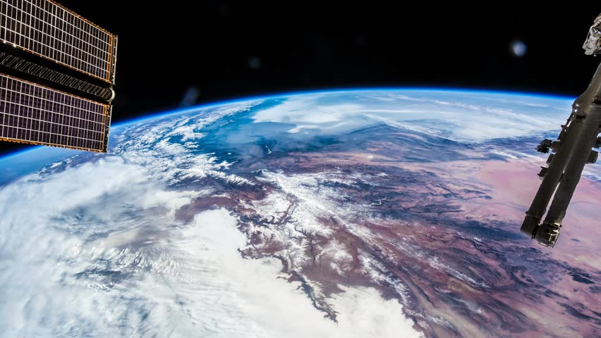 International Space Station ISS Earth View From Space, Iran To India.    Shutterstock HD Video #8934220